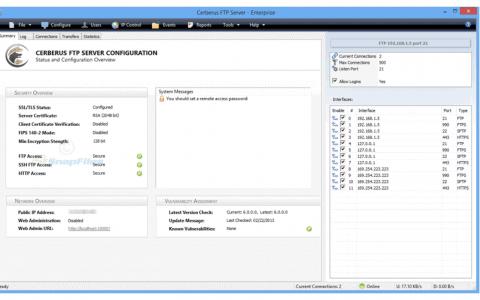 Cerberus FTP Server 10 Review