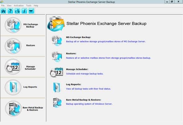 Stellar Exchange Server Backup