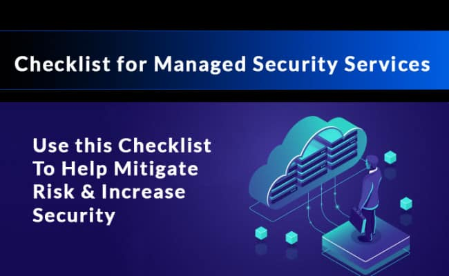 managed security services checklist